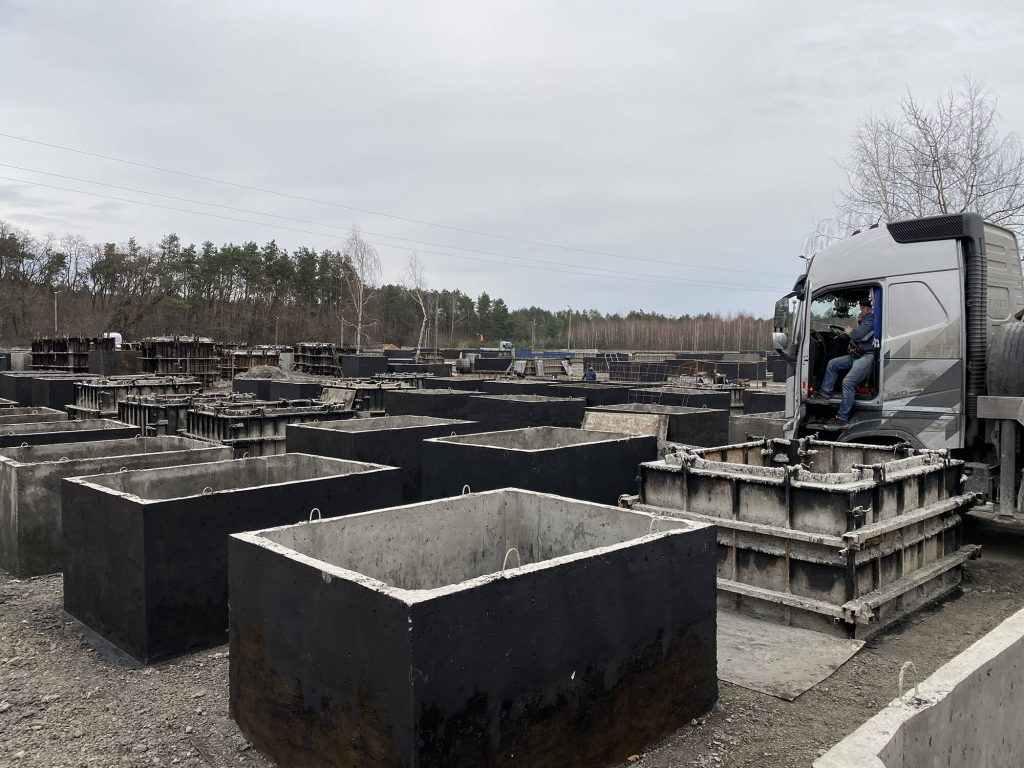 Betonové jímky z Polska - výroba